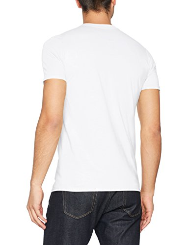 FM London Herren T-Shirt Printed Design White (Suns Out Guns Out)