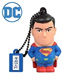 Tribe Warner Bros DC Comics Superman Movie - Memoria USB 2.0 de 16 GB Pendrive Flash Drive de goma con llavero, multicolor