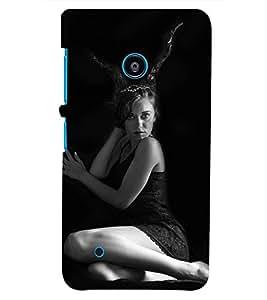 PRINTSHOPPII GIRL Back Case Cover for Nokia Lumia 530::Microsoft Lumia 530
