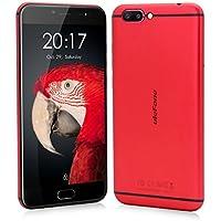 'Ulefone T1–Smartphone sbloccato 4G Rapido Y Furioso telefono cellulare sbloccato, corpo in metallo, 5.5fhd 1920* 1080pixels, corpo in metallo, Android 7.0, 64GB ROM + 6Gb Ram, Batteria 3680mAh, Fotocamera da 16MP/13MP, MTK Helio P25Octa-Core 64-bit 2.6GHz, Dual SIM, colore: nero/rosso rosso