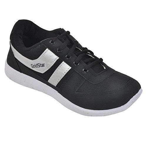 Gold Star Mens Mesh Black Running and Gym Shoes  available at amazon for Rs.489