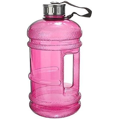 MaMaison007 2.2L seguridad botella de agua medio ambiente hervidor BPA libre Gimnasio deporte Copa formación - rosa