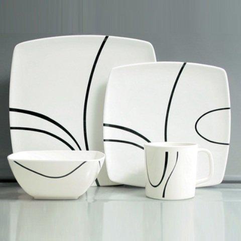 Melamingeschirr 16 Teile Zen design