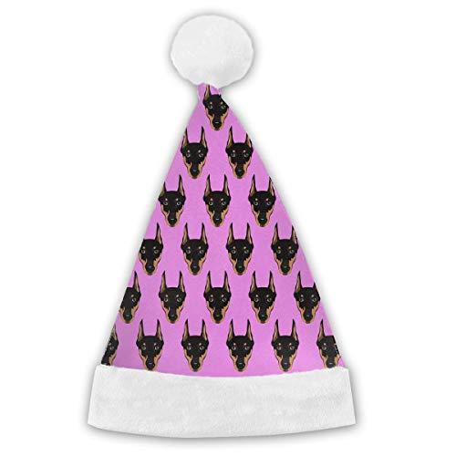 1920 Annee Kostüm - Voxpkrs Doberman Pinscher Dog Head Adults&Children Christmas Santa Claus Hat Party Supplies Costume Xmas Decoration