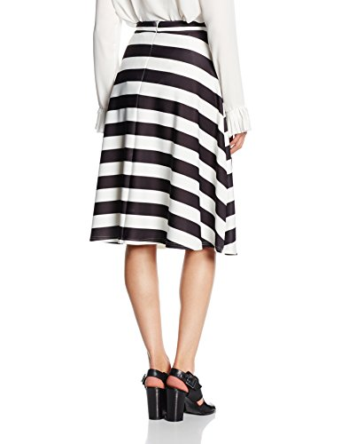 New Look Damen Rock Bold Stripe Schwarz - Black (Black Patterned)