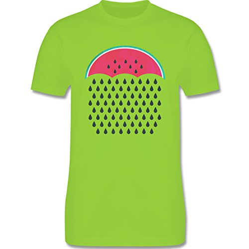 Statement Shirts - Watermelon Rain - Herren Premium T-Shirt Hellgrün