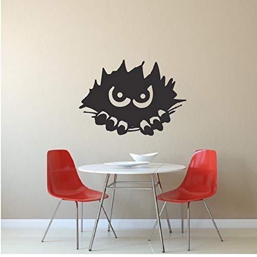 en Wandaufkleber 27 * 56 cm Home Kindergarten Schlafzimmer Halloween Vinyl Wandtattoo Oktober Spähen Monster Silhouette Wandbild ()