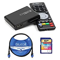 Micca Speck G2 1080p Full HD Ultra Portable Media Player Bundled with Elite 16GB Class 10 SDHC UHS-1 Memory Card and Blucoil 10-Ft HDMI Cable