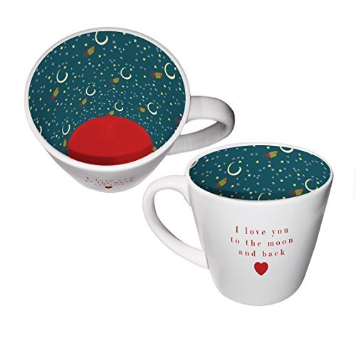 Inside Out Mug - Love To The Moon by Two Up Two Down