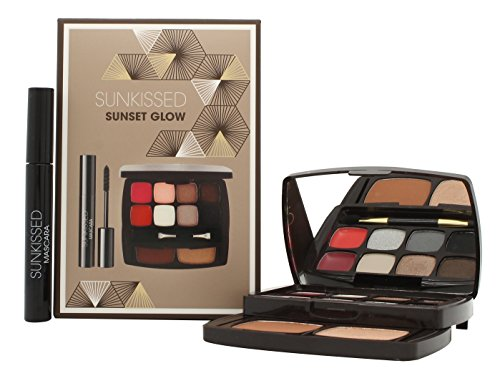 Sunkissed Sunset Glow Confezione Regalo 6 x 1.3g Ombretti + 2 x 0.8g Balsami Labbra + 3.8g Cipria Abbronzante + 3.8g Highlighter + 5.5ml Mascara Nero + Applicatore