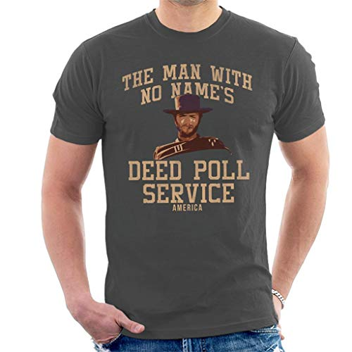 Man with No Names Deed Poll Service Clint Eastwood Men's T-Shirt