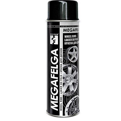 1 Stück 500ml Felgenlack Felgen Farbe schwarz glanz 22544