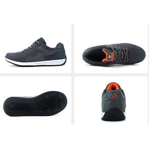 Chaussures De Sport Respirantes Pour Hommes En Tissu Respirant Sneaker Joker En Rembourrage Gris Clair Profond
