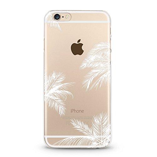 Handyhülle für Apple iPhone 6+ ( Palme ) - Hülle - Schutzhülle mit Motiv - TPU Silikon Hülle - Case - Cover - Schale - Backcover - Handytasche