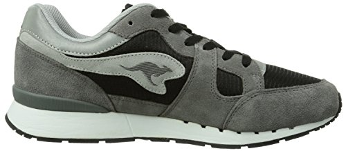 KangaROOS - Coil-r1, Sneaker a collo basso Uomo Nero (Schwarz (black/dk grey 522))
