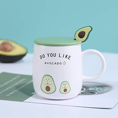 Becher Mädchen süße Keramik Tasse kreative Becher mit Deckel Löffel einfache Persönlichkeit Trend Kaffeetasse nach Hause