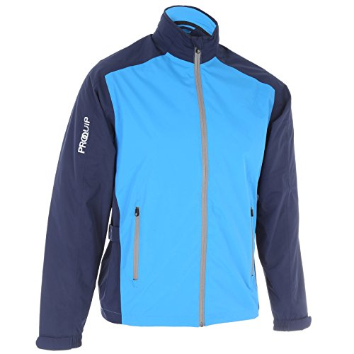 ProQuip Golf Mens Aquastorm PX1 Waterproof Rain Jacket Full Zip Navy/Blue Large