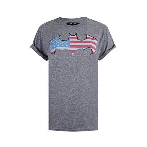 DC Universe Damen T-Shirt America Grey(Graphite Heather)