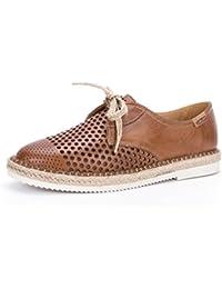 Pikolinos-cadamunt-zapato-mujer-w3k-4594-cordones-plano-brandy