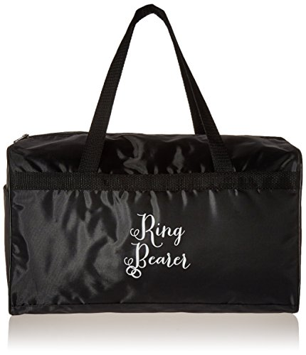 Lillian Rose Ring Bearer Duffel Bag, 15.5-Inch by 9.5-Inch