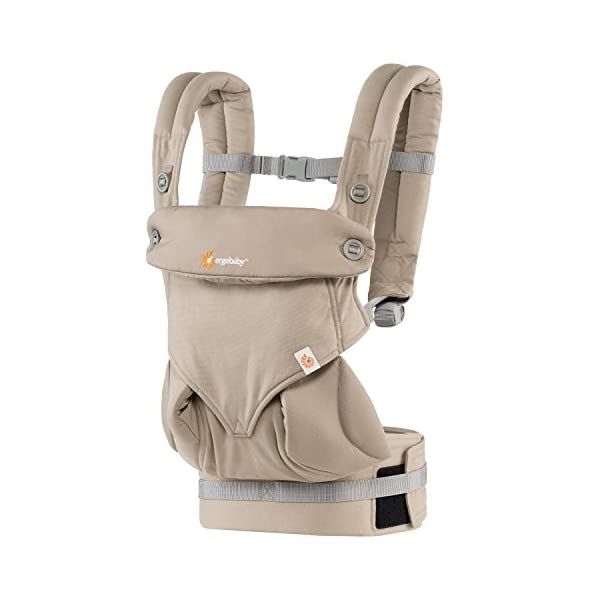Ergobaby baby carrier collection 360 (5.5 - 15 kg), Moonstone Ergobaby 4 ergonomic wearing positions: front-inward, front-outward, hip and back carry Structured bucket seat keeps baby seated in the anatomically correct frog-leg position Exceptionally comfortable thanks to adjustable, extra-wide waistband to support the lower back 1