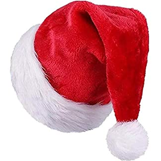 Sombrero de Santa,Gorro Navideño,Gorros de Papá Noel para Niños Adultos Disfraces de Navidad Decoración