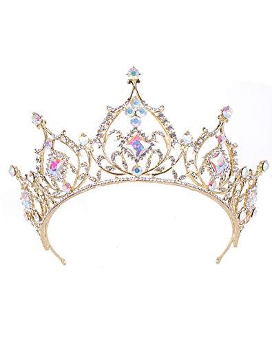 YNYA Diademe Princess Bride Crown Kopfschmuck Hochzeit Foto Studio Hochzeit Zubehör Crown Exquisite (Bride Halloween Princess)