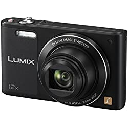 Panasonic Lumix Appareil Photo Compact Familial DMC-SZ10EF-K (Capteur 16MP, Zoom Lumix 12x, Grand angle 24mm, Ecran Inclinable, Vidéo HD, Modes Selfies, Stabilisé) Noir - Version Française