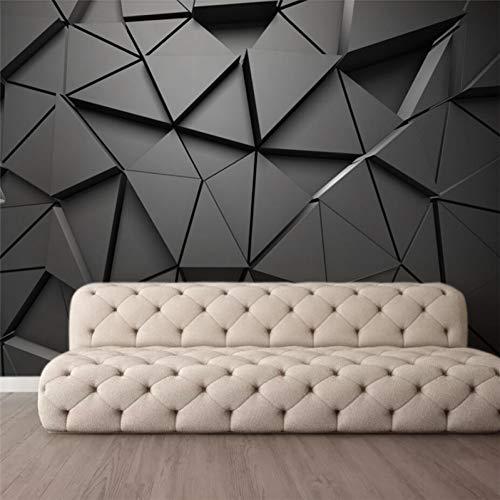 DACHENZI Custom Tapete Mode 3D Foto Wandbild Stereo Geometrische Abstrakte Grau Dreiecke Hintergrund Tapete -