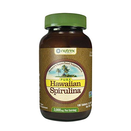 Nutrex, Pure Hawaiian, Spirulina Pacifica, 1000mg, 180 Vegane Tabletten