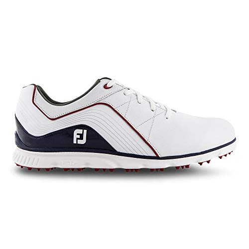 FootJoy PRO SL, Scarpe da Golf Uomo, Bianco (Blanco/Azul Navy/Rojo 53269m), 42.5 EU