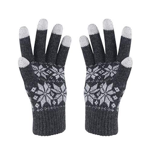 VENIMASEE Guanti moto invernali touch screen da neve guanti termici uomo do