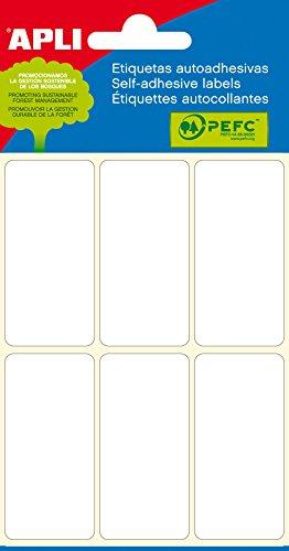 APLI 2681 - Etiquetas blancas adhesivo fuerte 26 x