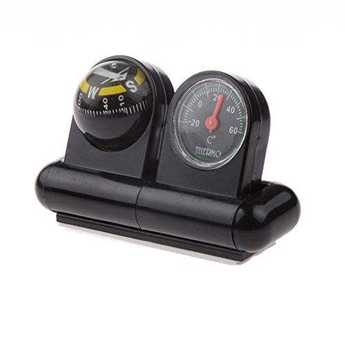 MagiDeal 2-in-1 Auto Kompass + Thermometer für Orientierung, Navigation - Multifunktionell