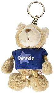 NICI n15860-Llavero Oso con Camiseta Daniele, Azul