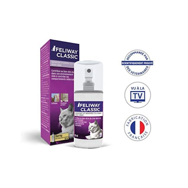 FELIWAY Classic - Anti-stress pour Chat - Spray 60 ml