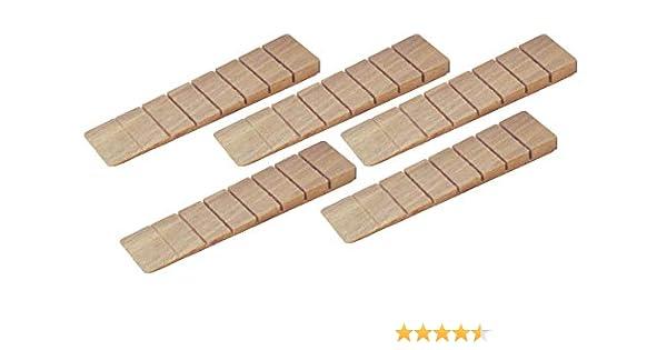 100 x 40 x 25 mm LxLxH haggiy Cales en bois dur 50 Pcs. Cales en h/être nature