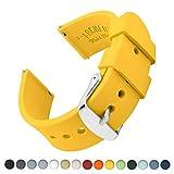 Archer Watch Straps | Ricambio di Cinturino di Silicone per Uomo e Donna, Caucciù Sgancio Rapido per Orologi e Smartwatch | Giallo, 22mm