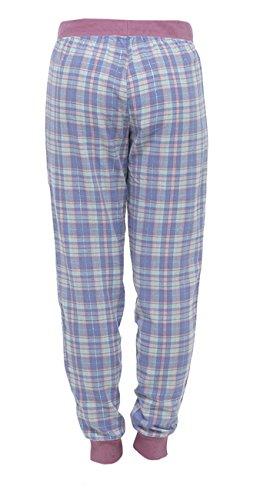 Damen Damen Kariert Baumwolle Pyjamahose Freizeithose Rose -pointure.eu e8870a0591