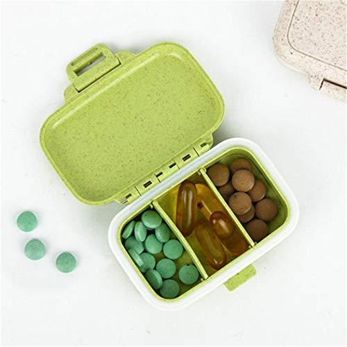 Eleusine Portable 3 Compartiment Voyage Pill Box Organizer Tablette Support De Distributeur De Médicament De Stockage (style 1)
