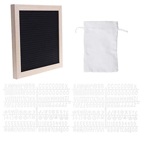 Chiic Filzstift-Board, Dekoration, Rahmen, weiße Buchstaben, Symbole, Anzahl Figuren schwarz - Freien Im Board Buchstaben