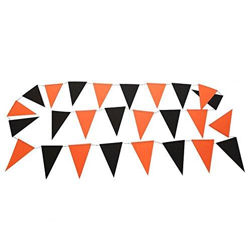 Jingyuu Halloween-Banner mit Dreieck, Drapeauen, Papier, Banner, Dekoration, für Halloween-Party