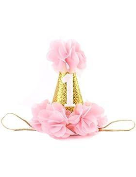 PU Ran® Fashion Girl Zubehör Haarband Baby Elastic Blume Krone Lace mit Kopfbedeckungen