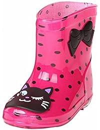 706a4dd20ab060 JERFER Unisex-Kinder Jungen Mädchen Stiefel Wasserabweisend Kinderstiefel  Federleichte Gummistiefel