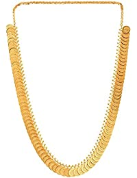 Gold Plated Traditional Ginni Design Long Necklace/Chain For Women And Girls By Shreyadzines