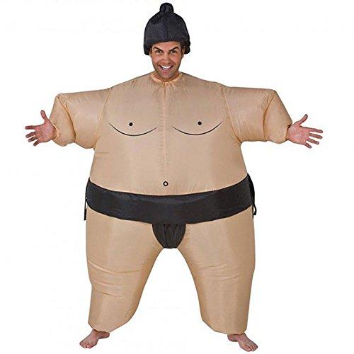 Aufblasbares Sumo-Ringer Kostüm - Herren Karneval Fasching Verkleidung Yokozuna Fat-Suit Anzug