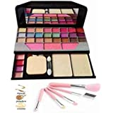 Women's & Girl's TYA 6155 Multicolour Maived Makeup Kit with 5 Pink Makeup Brushes Set - (Pack of 6)