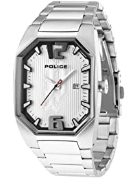 Police PL.12895JS-04M - Reloj analógico de cuarzo para hombre con correa de acero inoxidable, color plateado