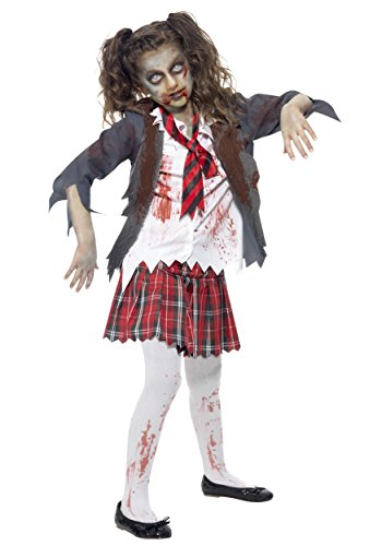 Smiffys Kids Zombie School Girl Fancy Dress Costume X-Small