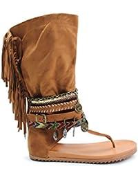instinct Mujer botas con flecos